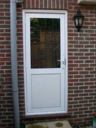 White aluminium entrance door