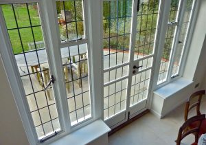 White Aluminium steel replacement french door interior view