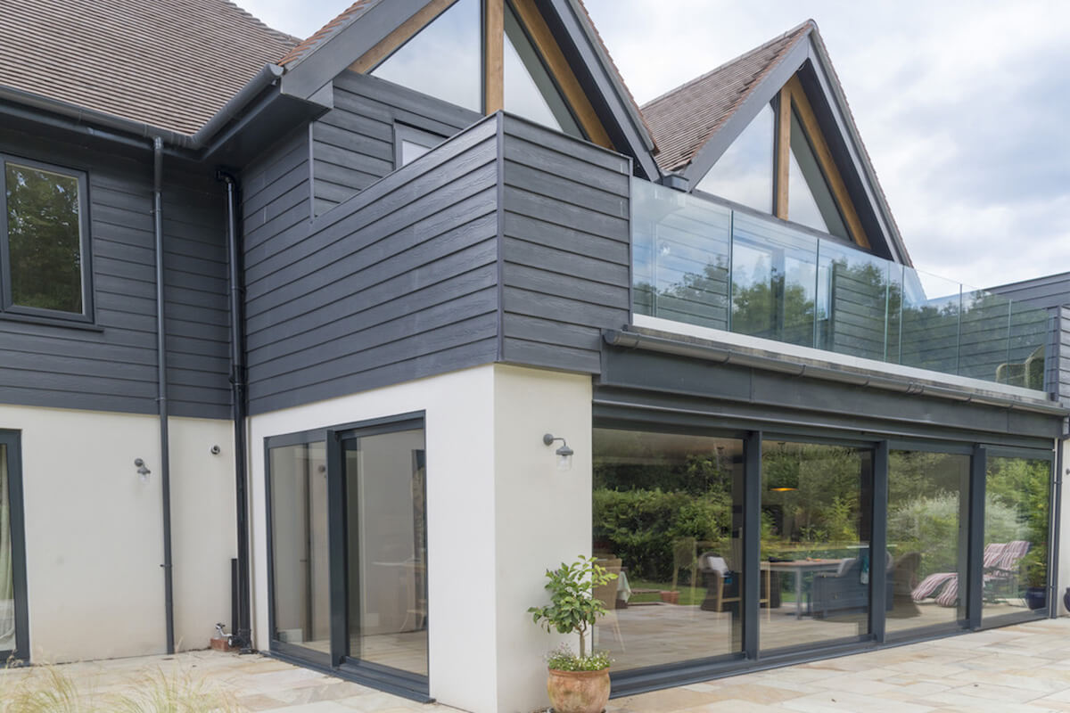 Anthracite Grey aluminium patio doors and windows