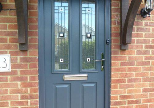 Anthracite Solidor composite door