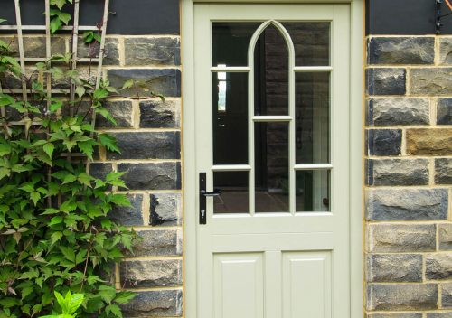 Bespoke cream timber entrance door