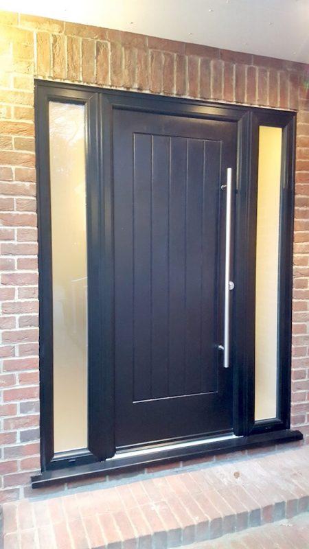 Black RockDoor composite door