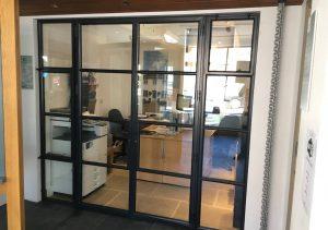 Black aluminium steel replacement french door