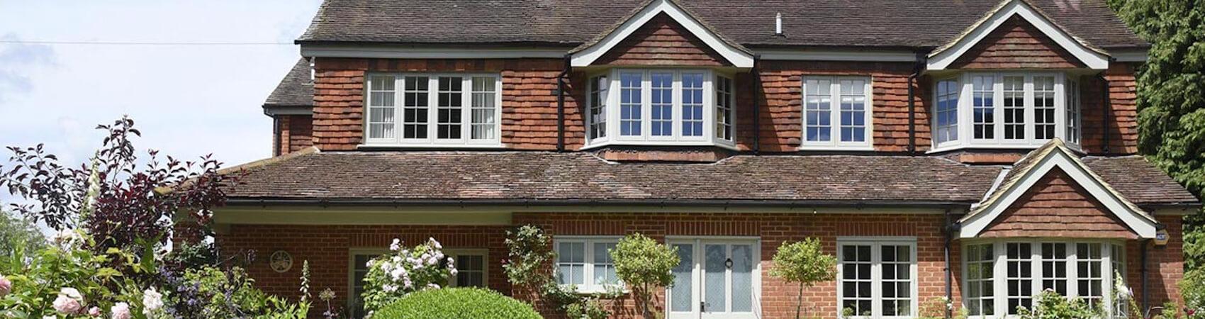 Grey casement window installations