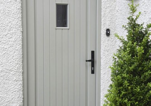 Classic style timber entrance door