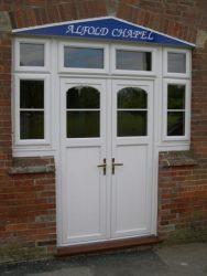 Commercial PVC entrance door