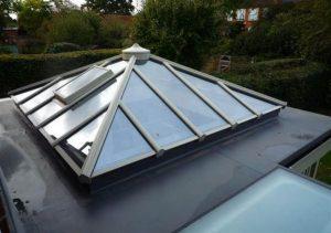 Cream uPVC roof lantern
