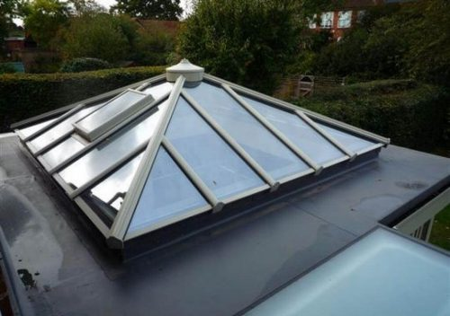 Cream uPVC roof lantern