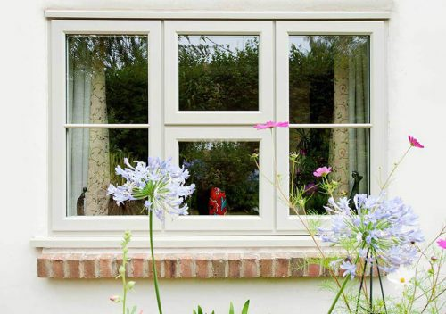 Cream uPVC timber effect window