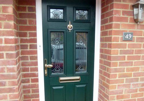 Dark green RockDoor composite door
