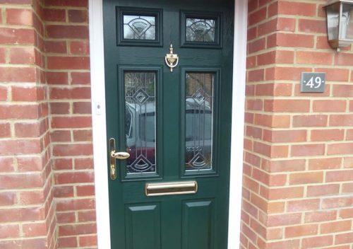Dark green Solidor composite door