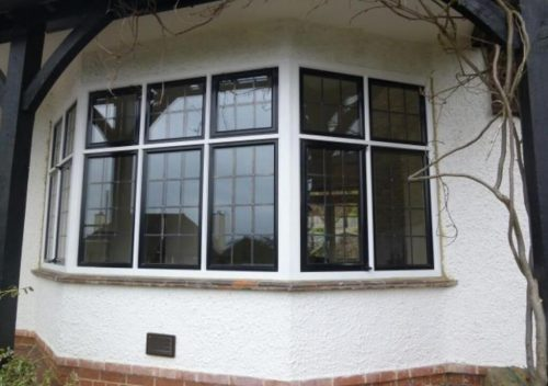 Dual colour steel replacement windows