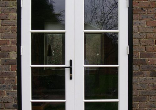 Dual colour timber french door