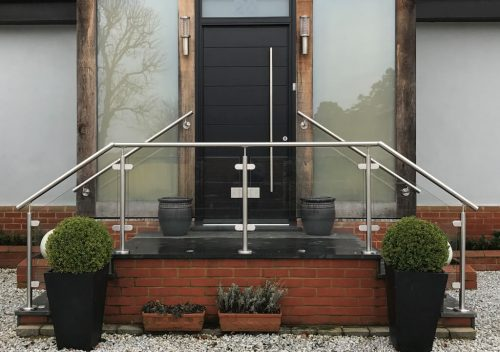 Home entrance glass balustrade