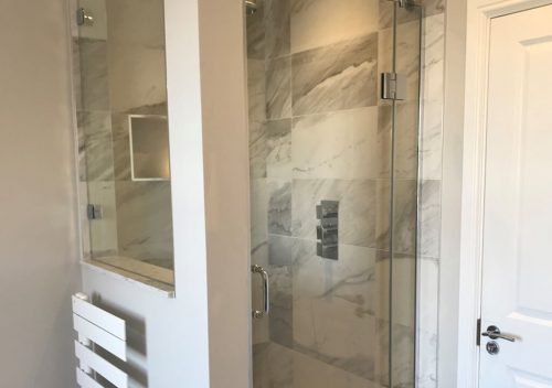 Glass shower screen and door