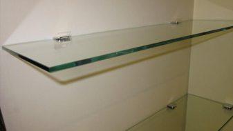 Toughened glass shelving