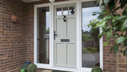 Green timber alternative entrance door