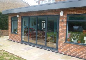 Anthracite grey aluminium Sunflex bifold door