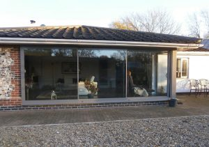Grey aluminium Sunflex patio door