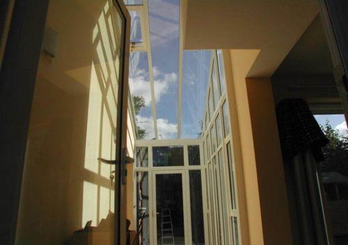 Hallway with aluminium rooflights