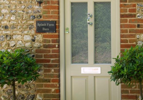 Heritage green timber entrance door