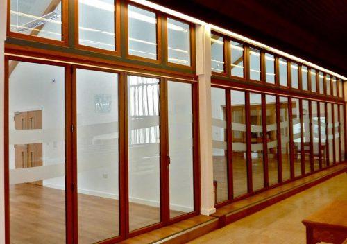 Interior timber bifold doors