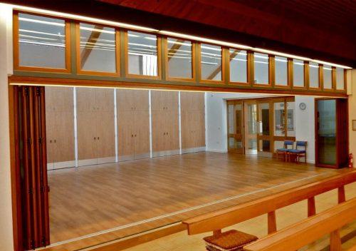 An open interior timber bifold door