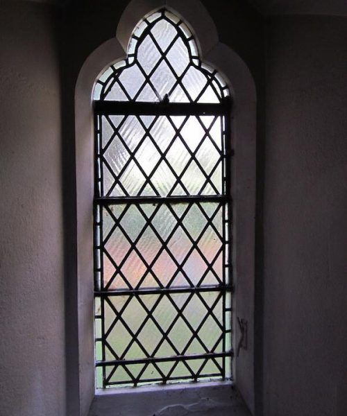 Leaded and textured glass design