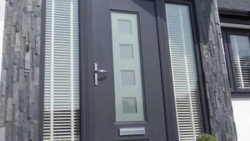 Modern grey RockDoor composite door