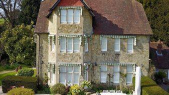 PVC white sash window installation