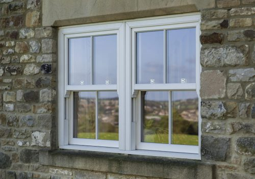 Stone building PVC sliding sash window
