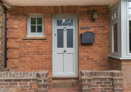 PVC timber alternative entrance door and window