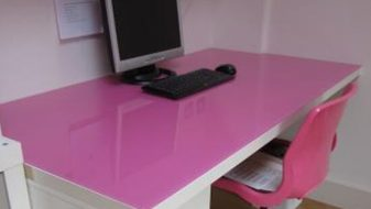 Pink Glass Work Top