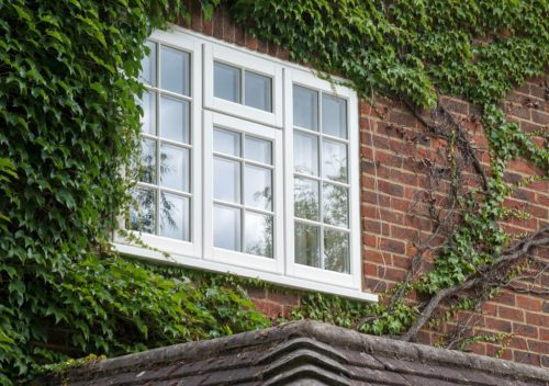 Residential timber effect window installation