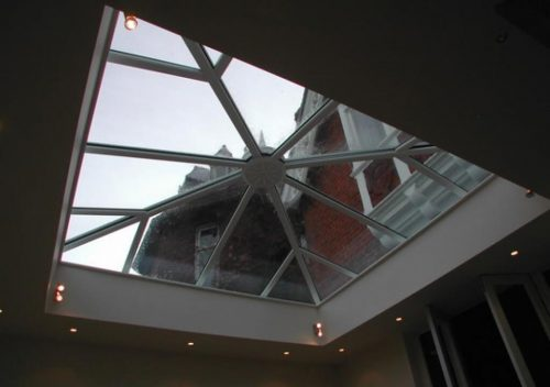 Interior view of a roof lantern