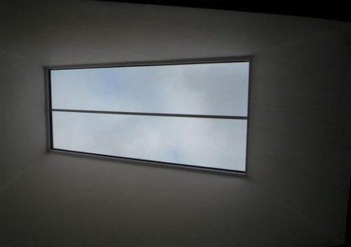 Aluminium roof light interior view