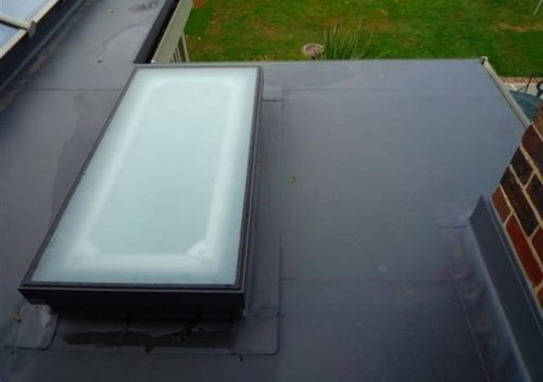 Aluminium roof light with frosted glass
