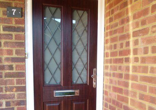 Rosewood effect RockDoor composite door