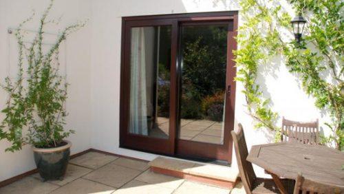 Rosewood timber patio door
