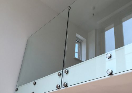 Second level frameless glass balustrade
