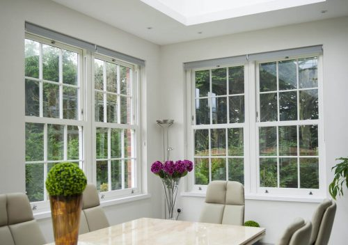 Interior view of uPVC sliding sash window