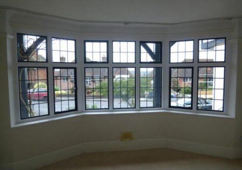 Steel replacement bay window interior view