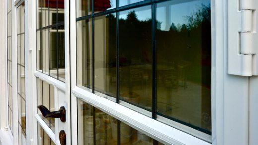 White aluminium steel replacement french door