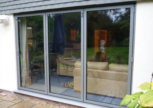 Sunflex grey aluminium bifold door