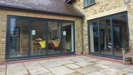 Black aluminium Sunflex bifold door