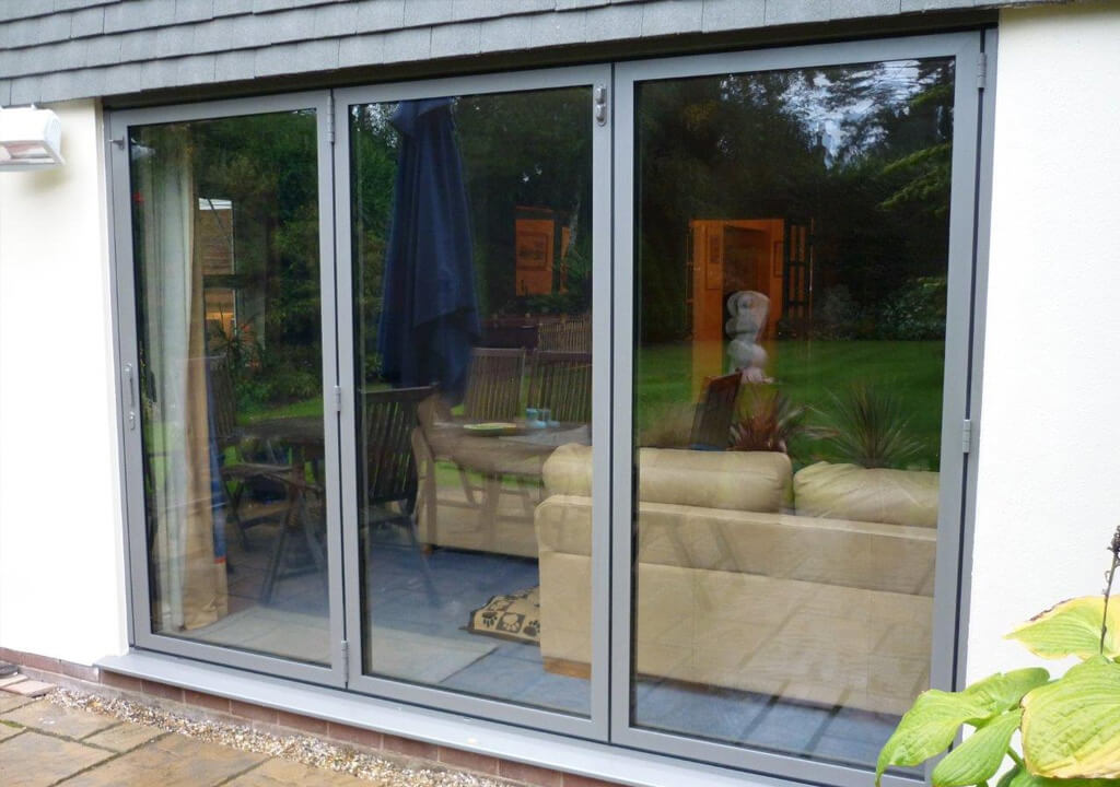 ... Sunflex grey aluminium bifold door ... : sunflex doors london - pezcame.com