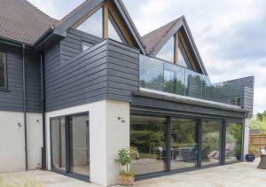 Sunflex grey aluminium sliding doors