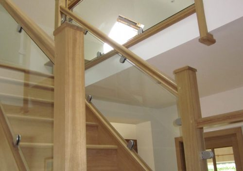Timber railing and glass balustrade