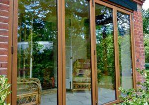 Timber bifold door installation