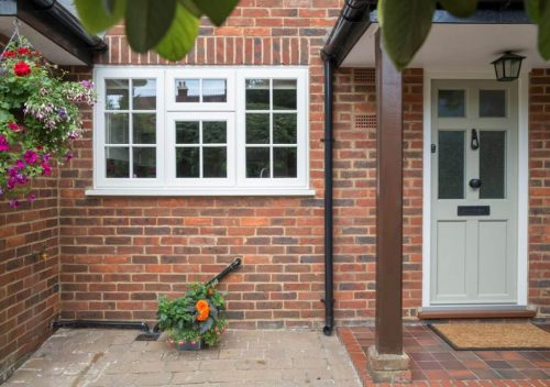 Timber effect window and door